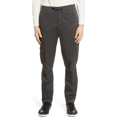 Officine Generale Jay Slim Fit Garment Dyed Cargo Pants, Black