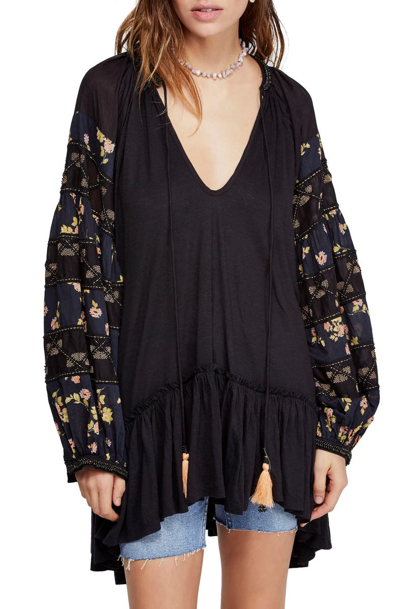 FREE PEOPLE Mix It Up Tunic, Main, color, 001