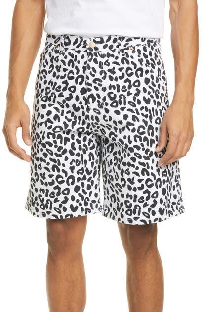Noon Goons Shorts LEOPARD DENIM SHORTS