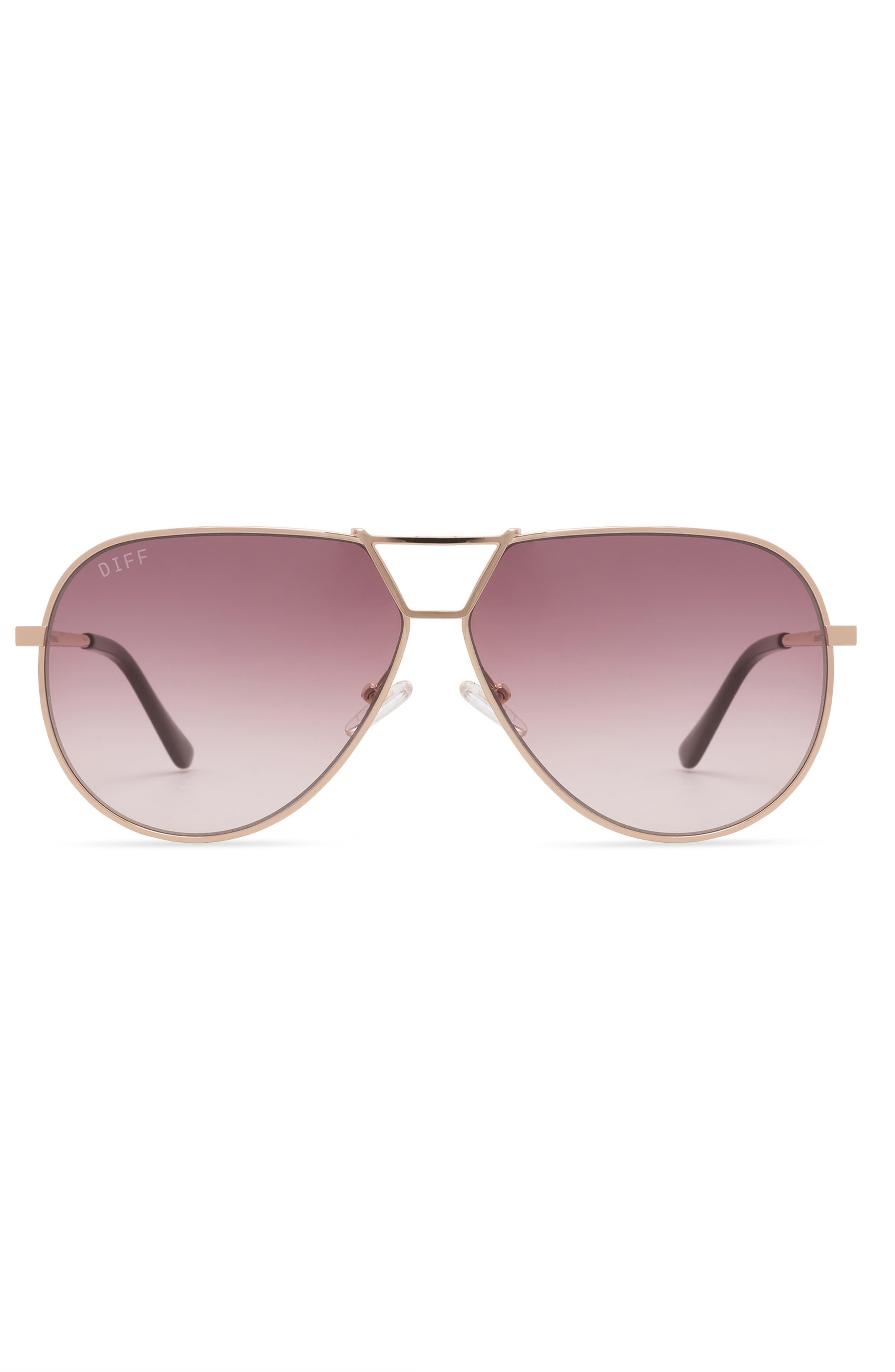 Devon 65mm Oversize Gradient Aviator Sunglasses