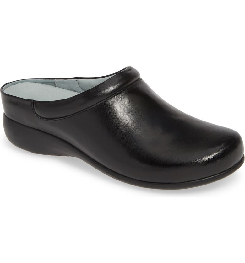 DAVID TATE Win Clog, Main, color, BLACK BRUSHED LEATHER