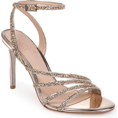 Jewel Badgley Mischka Desiree Glitter Sandal- Metallic