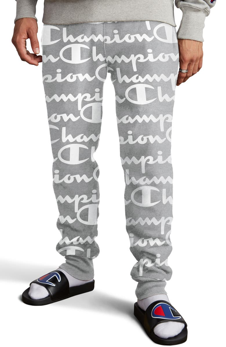 Life® Reverse Weave Script Fleece Jogger Pants by Champion