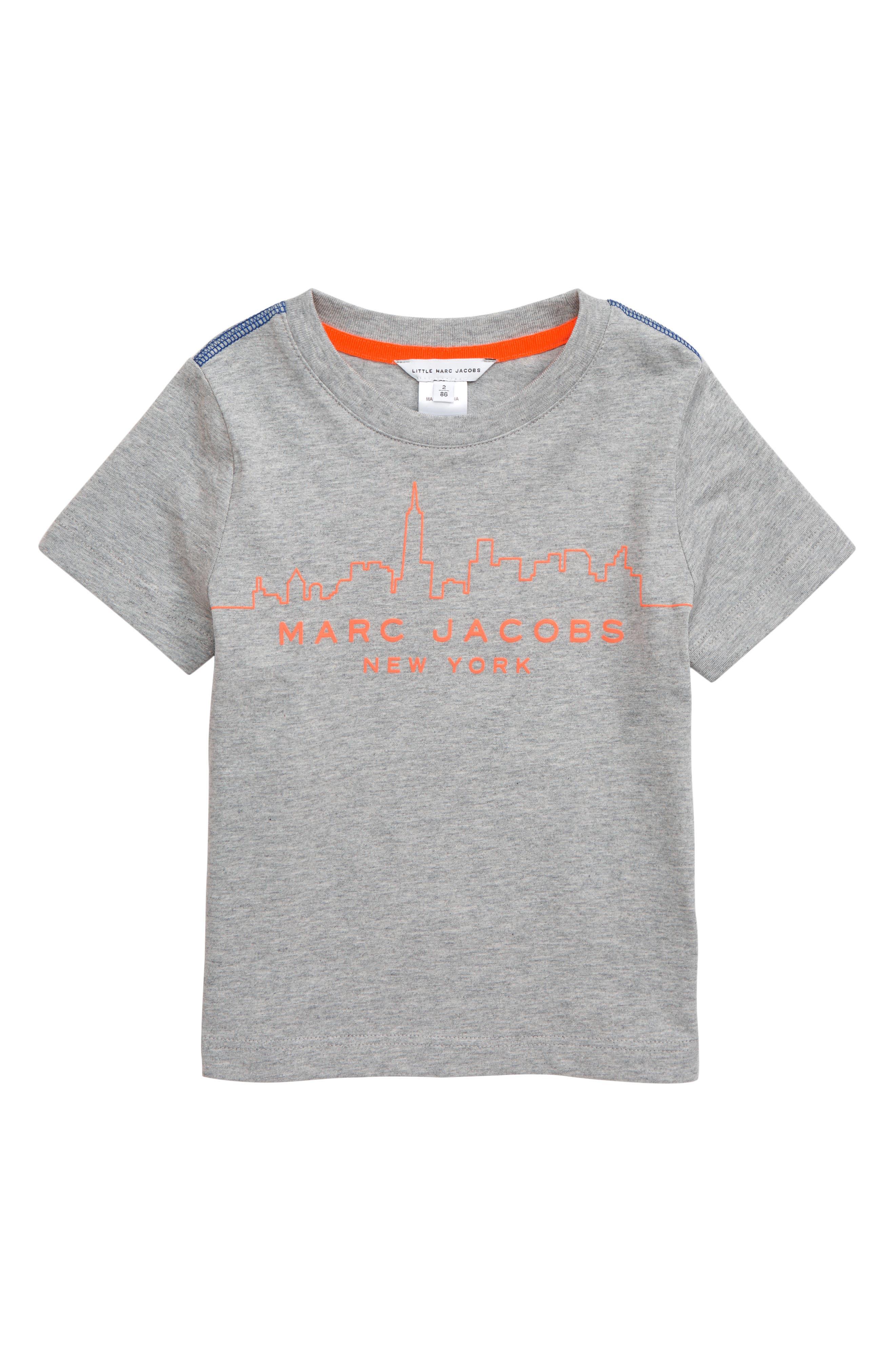 ,                             Logo T-Shirt,                             Main thumbnail 1, color,                             GRIS CHINE