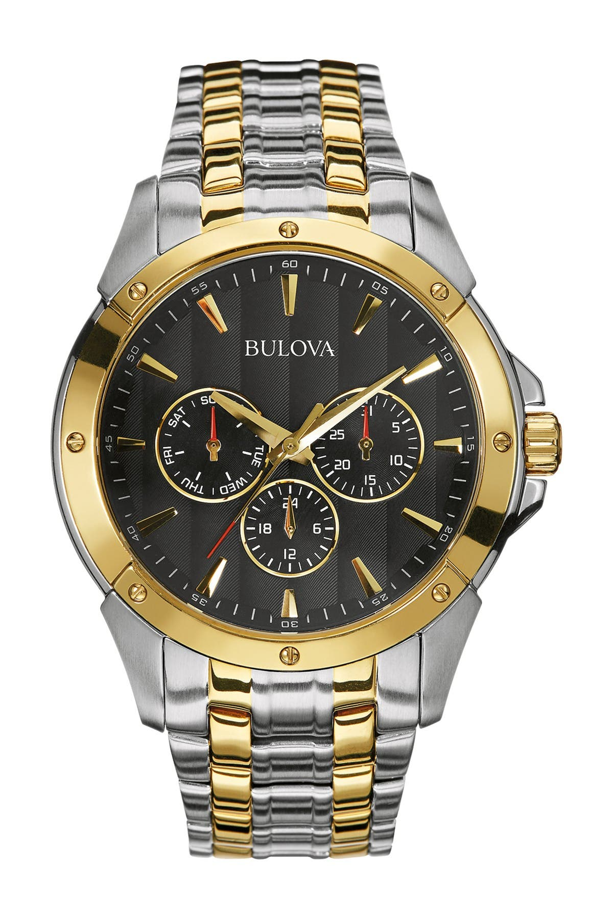 Bulova Men's Two-tone Stainless Steel Bracelet Watch