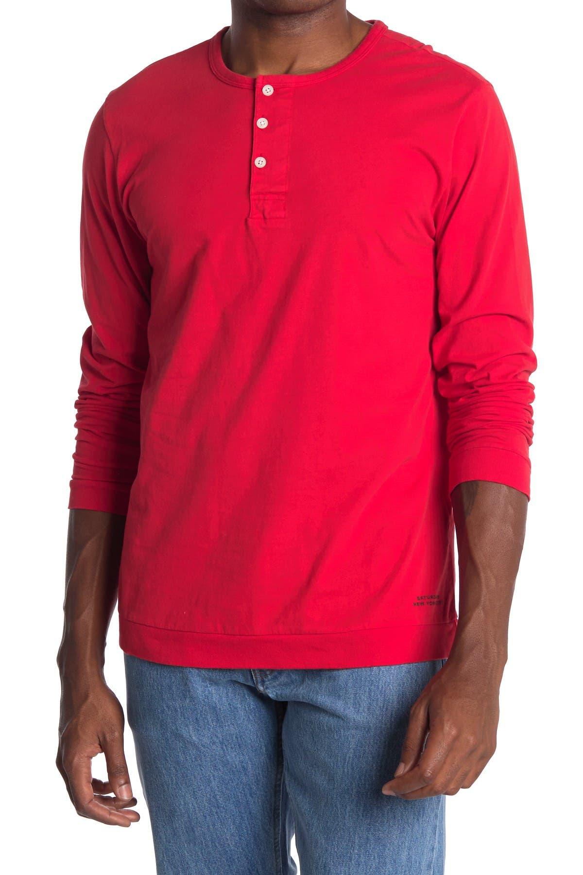 Image of SATURDAYS NYC Mitch Knit Henley T-Shirt