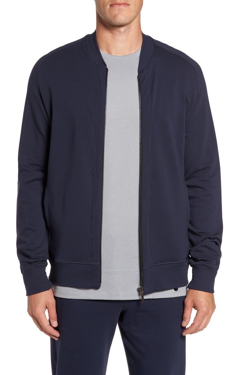 HANRO Living Zip Bomber Jacket, Main, color, 009