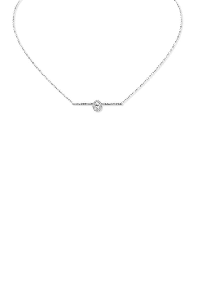 MESSIKA Glam'Azone Pavé Diamond Necklace, Main, color, WHITE GOLD
