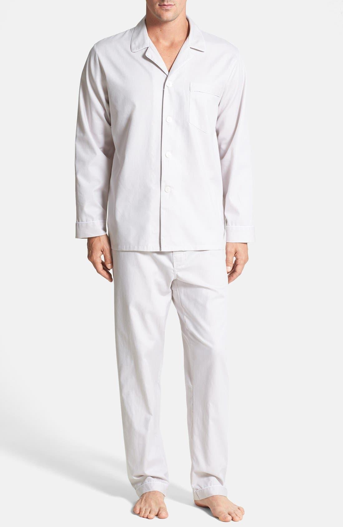 ,                             Herringbone Cotton Pajamas,                             Main thumbnail 5, color,                             209