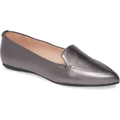 Taryn Rose Faye Pointy Toe Loafer, Grey