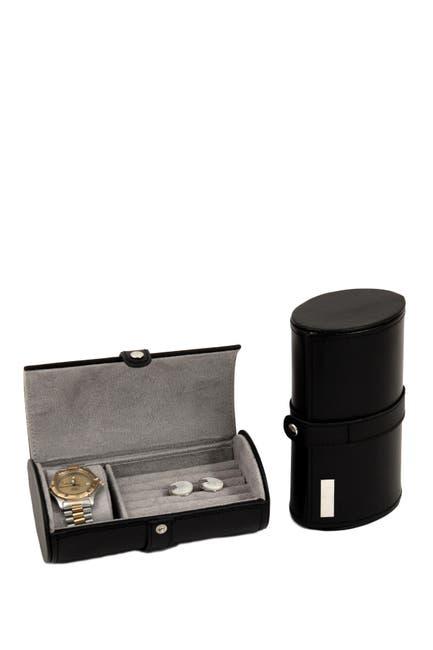 Bey Berk Black Leather Watch Cufflink Travel Jewelry Storage Nordstrom Rack
