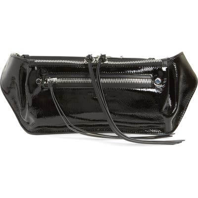 Rag & Bone Ellis Patent Leather Fanny Pack - Grey
