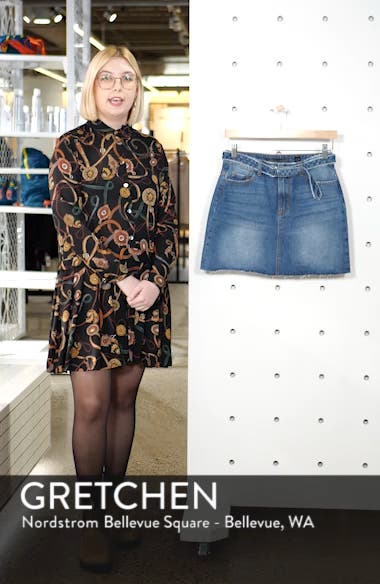 Belted Denim Skirt, sales video thumbnail