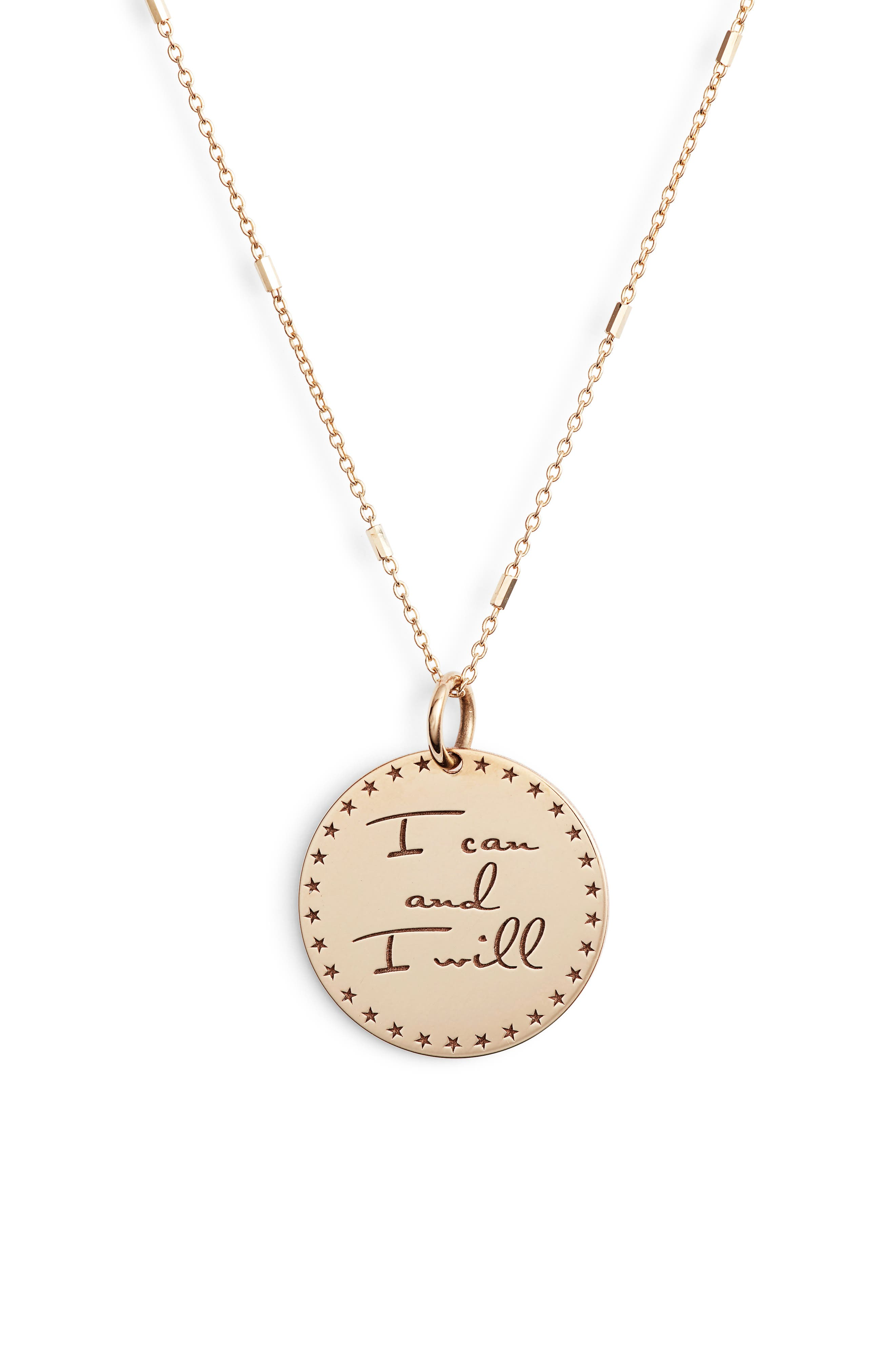 Zoe Chicco Mantra Pendant Necklace