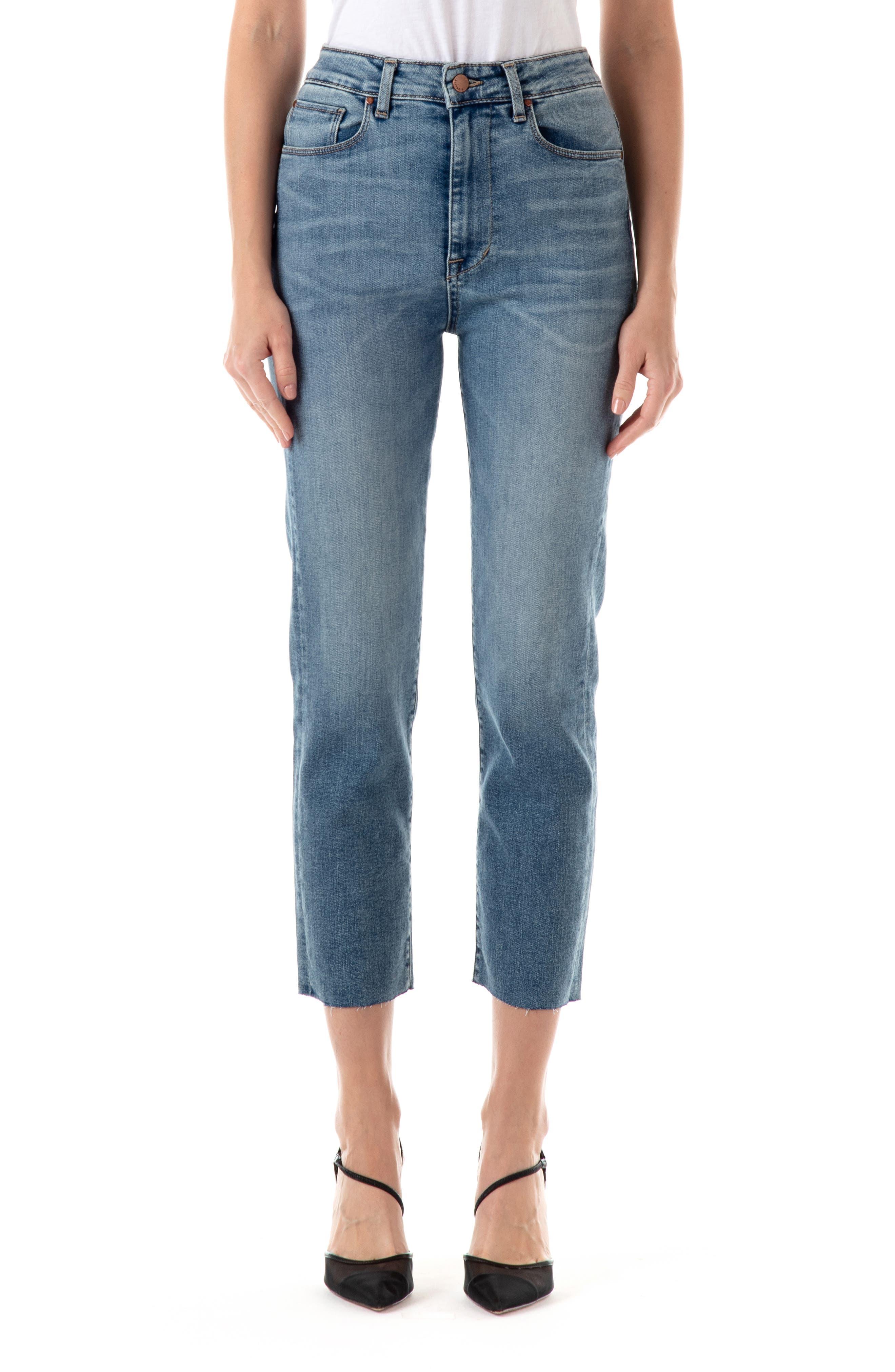 Cher High Waist Ankle Slim Straight Jeans