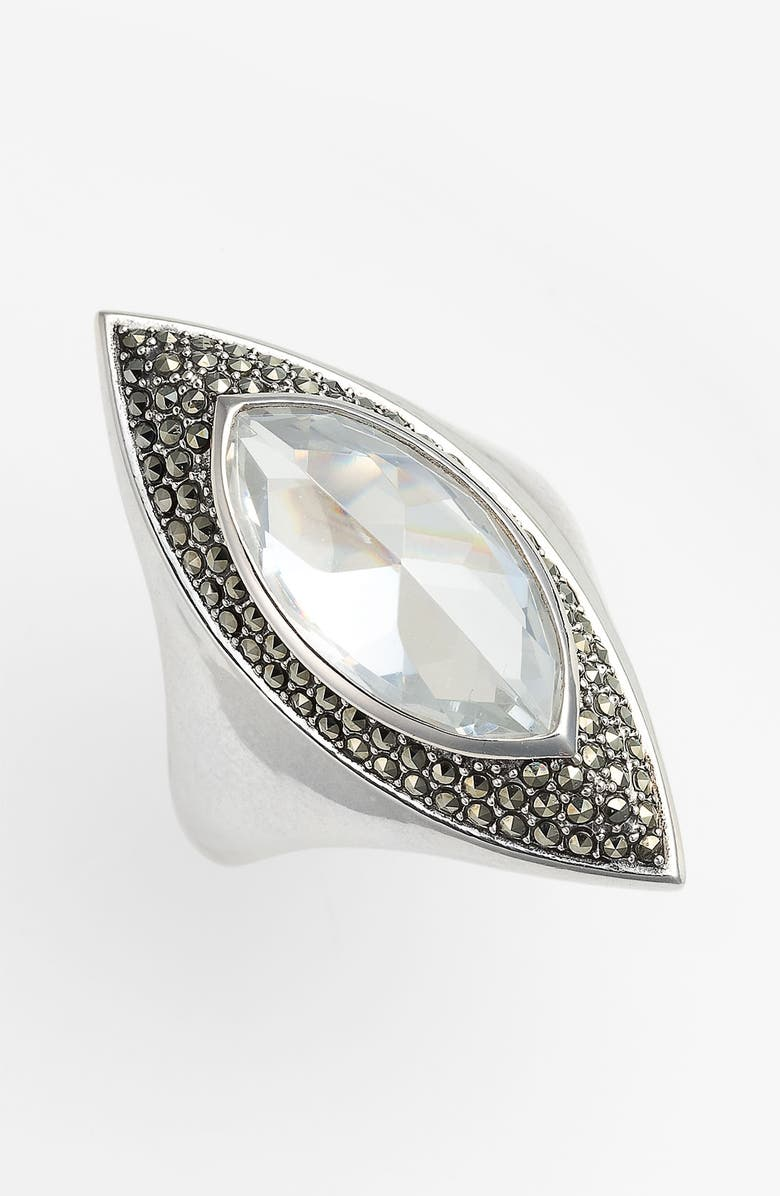 JUDITH JACK 'Coil' Marquise Ring, Main, color, 040