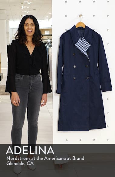 Contrast Trim Trench Coat, sales video thumbnail