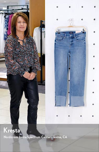 Marilyn High Waist Pieced Slit Ankle Jeans, sales video thumbnail