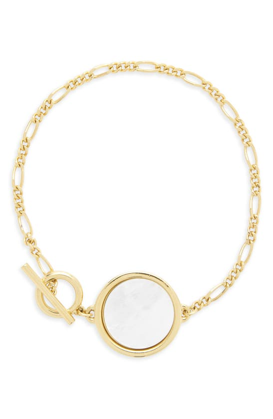 Brook & York Layla Mother Of Pearl Pendant Bracelet In Gold