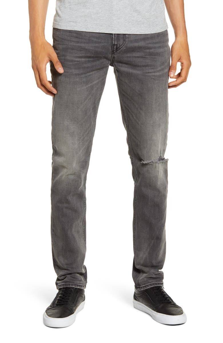 HUDSON JEANS Axl Ripped Skinny Fit Jeans, Main, color, GRAYS