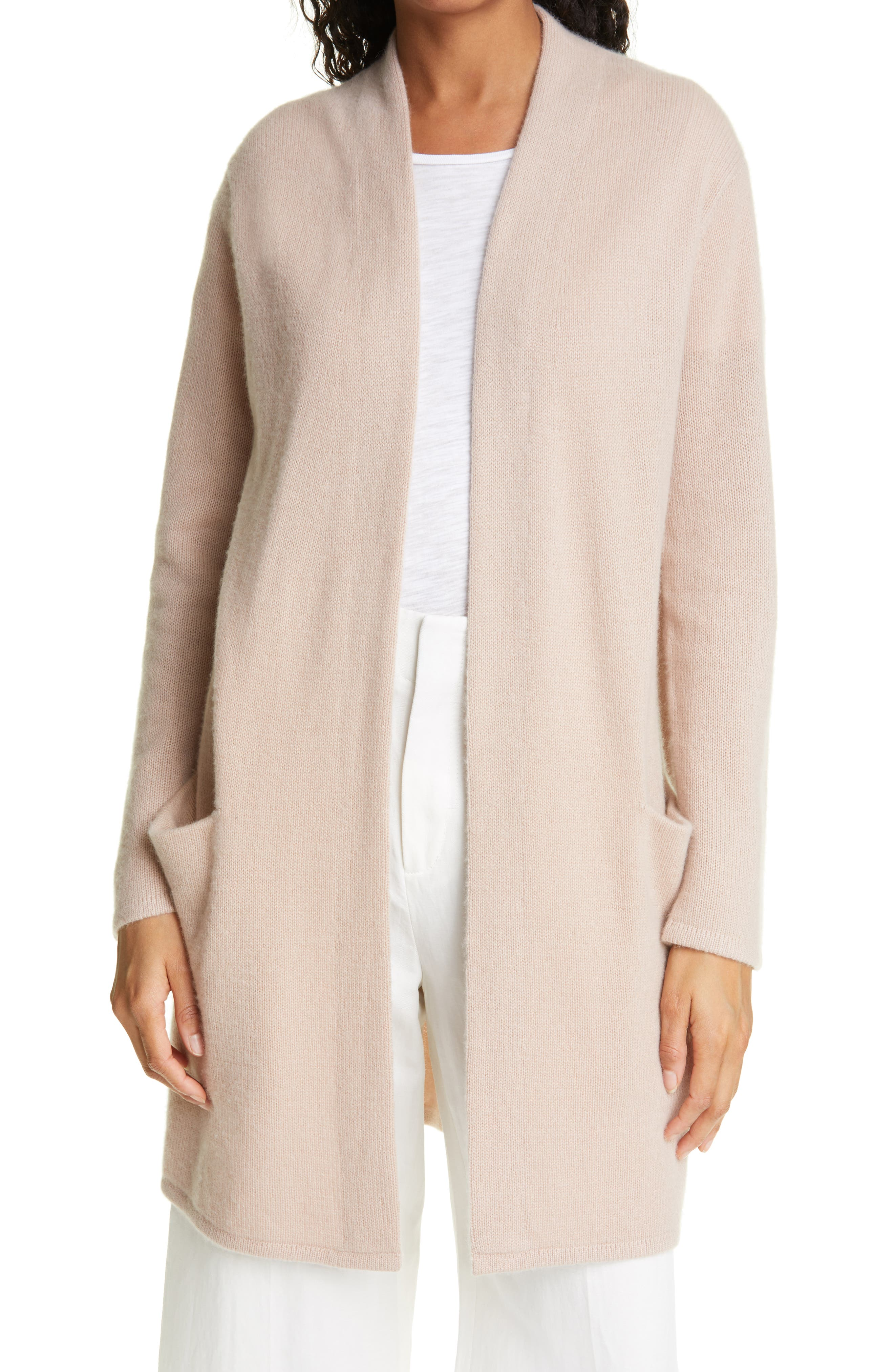 Open Front Cashmere Sweater Coat