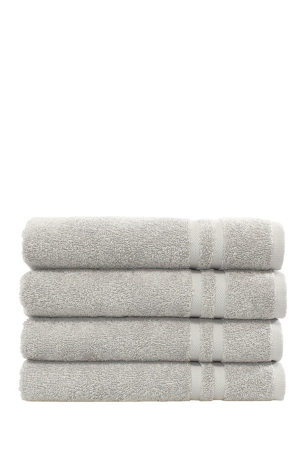 Image of LINUM HOME Denzi Hand Towels - Set of 4 - Grey