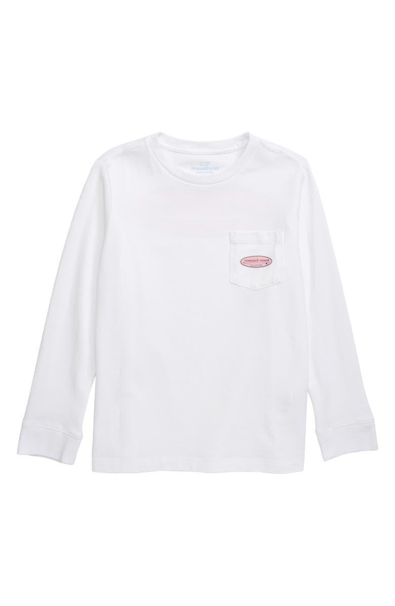 VINEYARD VINES Surf Logo Pocket T-Shirt, Main, color, WHITE CAP