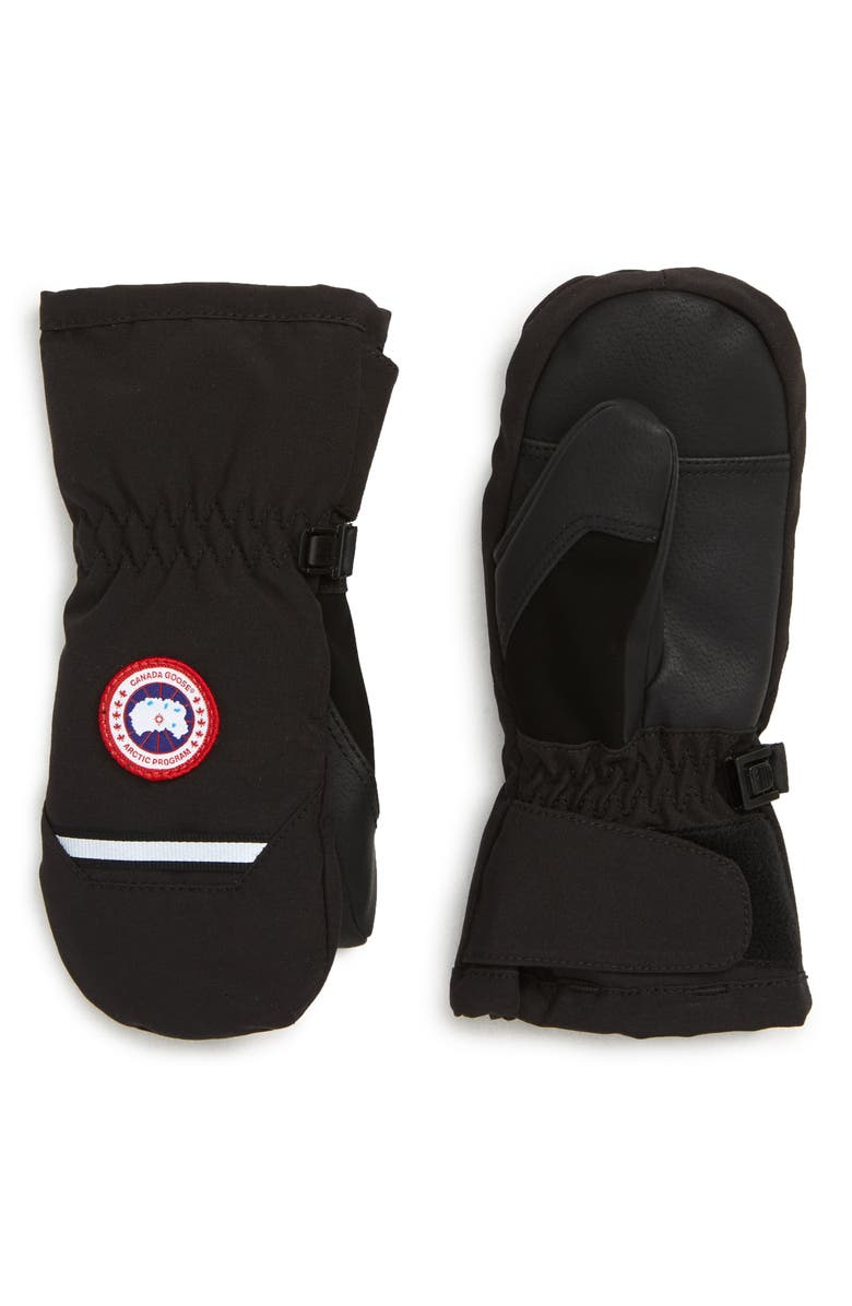 CANADA GOOSE Arctic Down Mittens, Main, color, BLACK