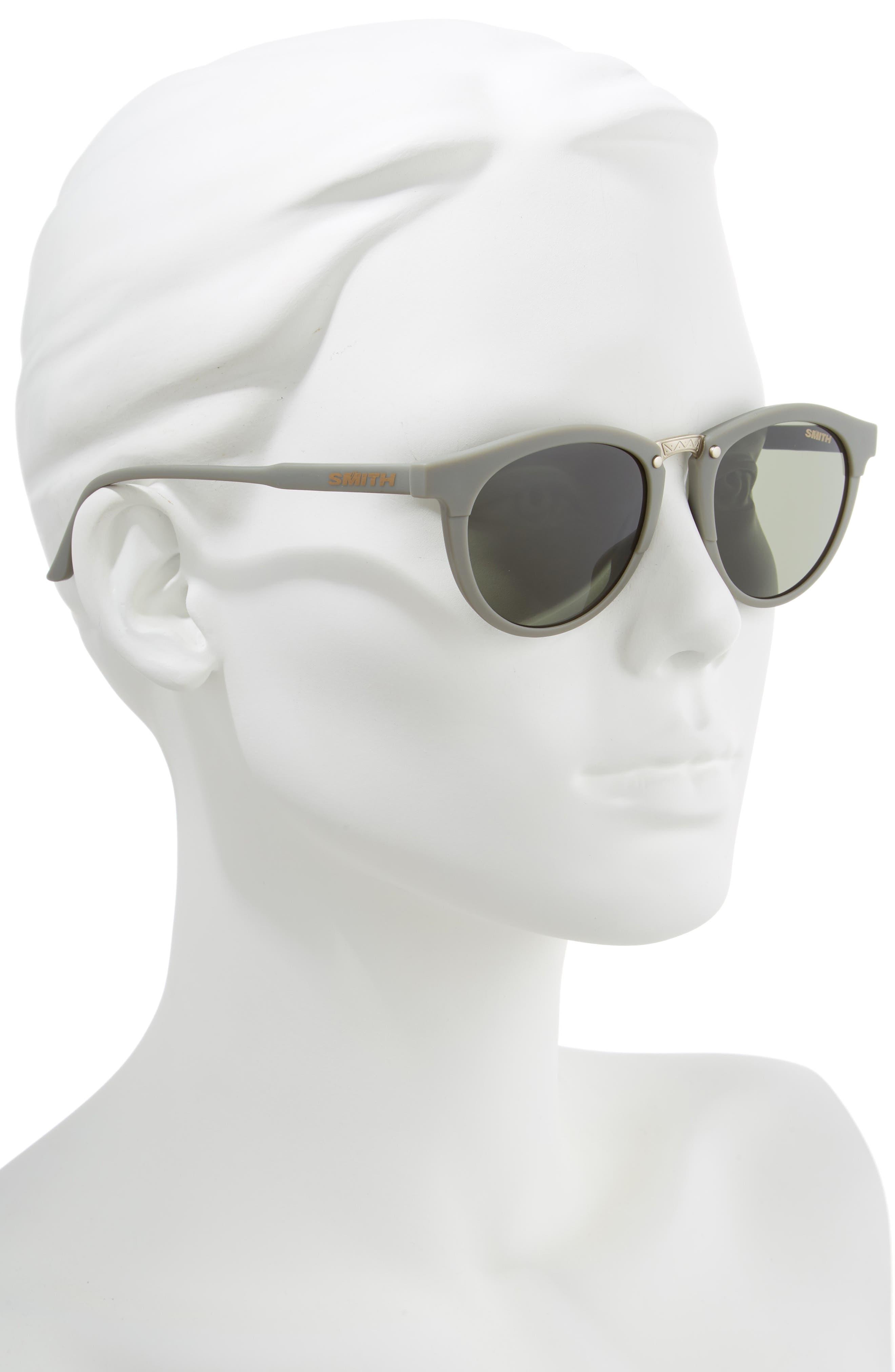 ,                             Questa 50mm ChromaPop<sup>™</sup> Polarized Round Sunglasses,                             Alternate thumbnail 2, color,                             GREY/ MATTE SAGE