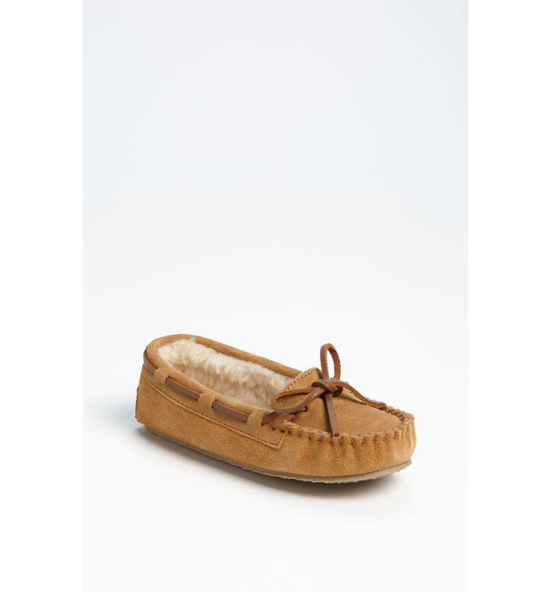 MINNETONKA 'Cassie' Slipper, Main, color, CINNAMON BROWN