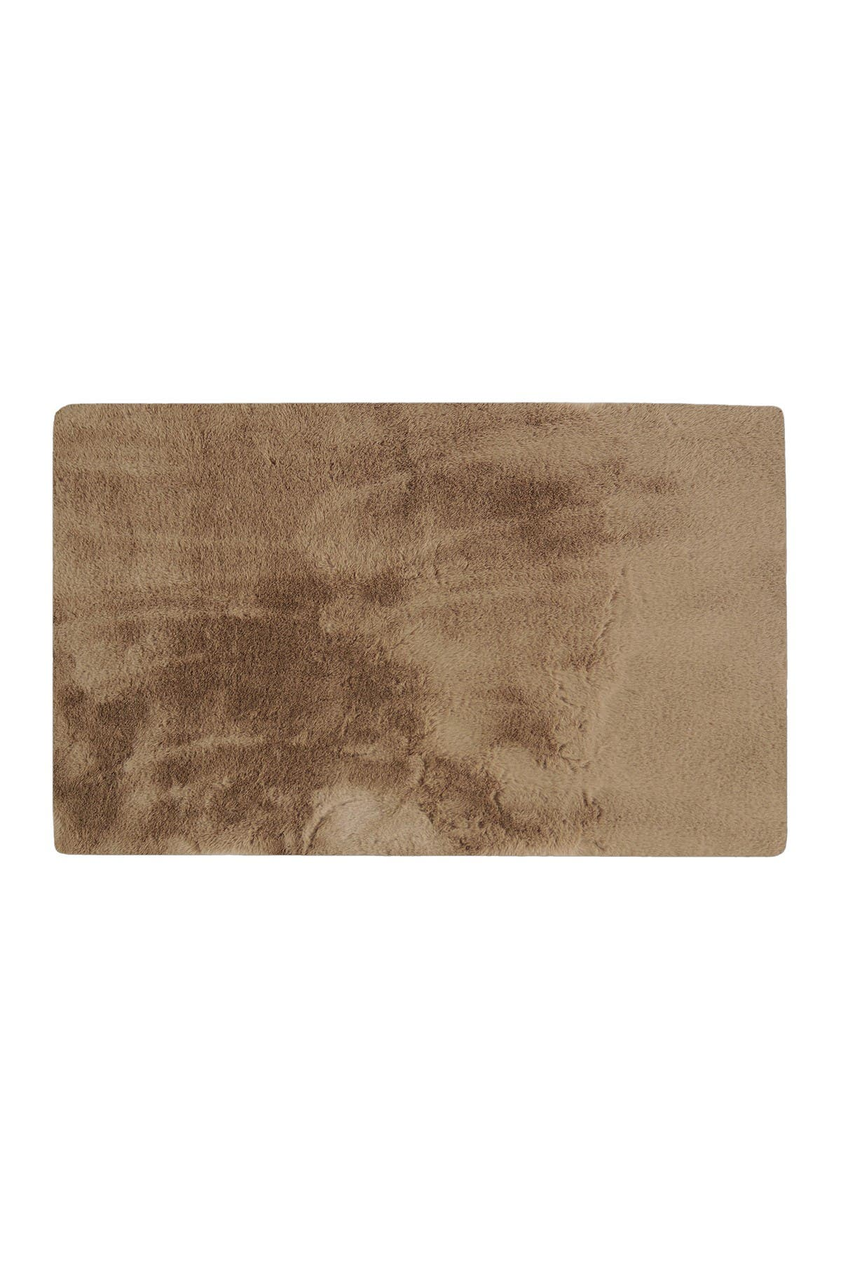 Image of LUXE Faux Fur Rectangular Throw 3' X 5' - Taupe