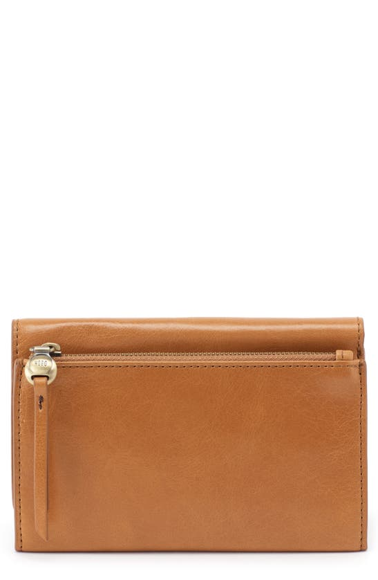 Hobo Might Leather Trifold Wallet In Honey