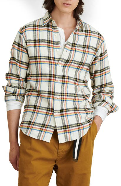 Alex Mill REGULAR FIT PLAID FLANNEL BUTTON-UP SHIRT