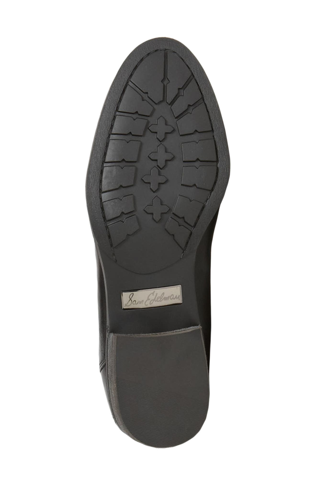 ,                             Penny Boot,                             Alternate thumbnail 4, color,                             BLACK WIDE CALF