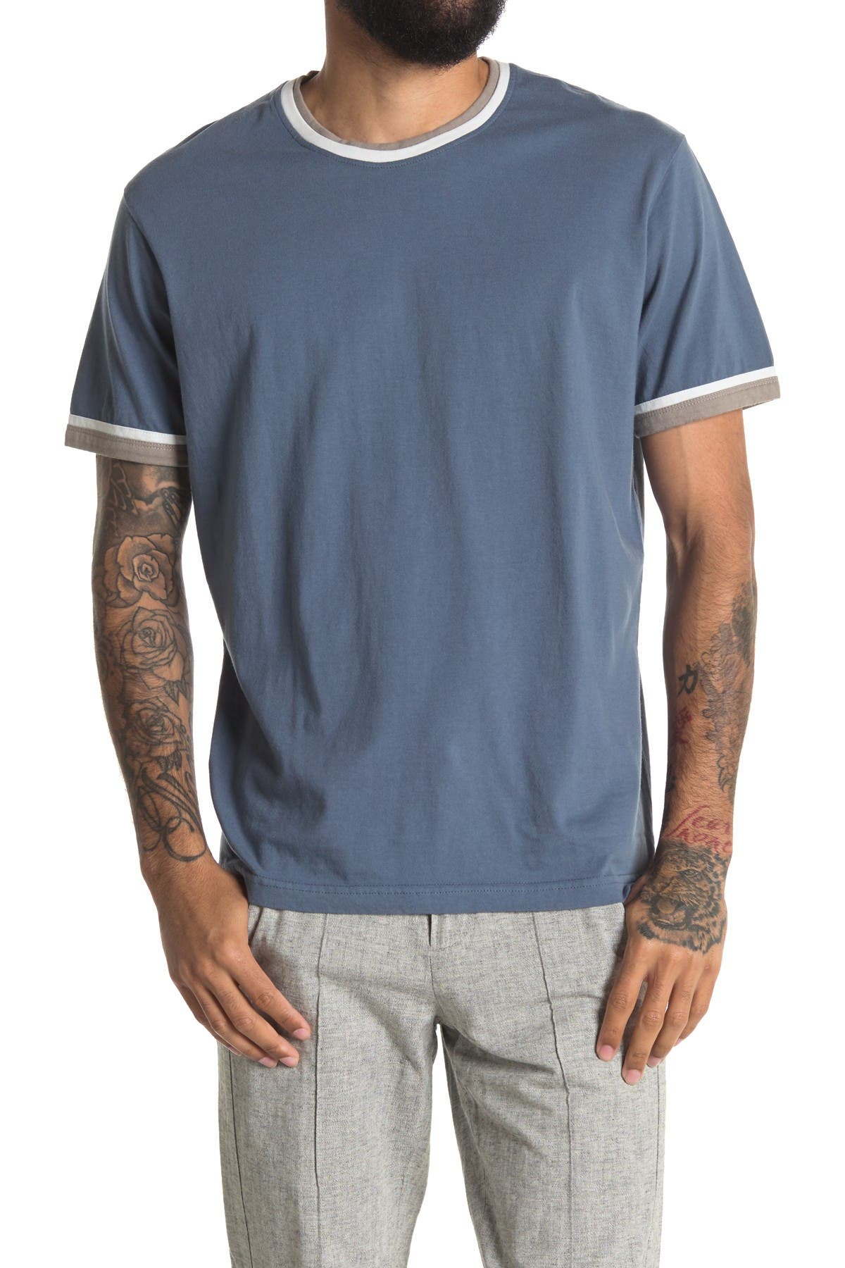 Image of THE NORMAL BRAND Varsity Ringer T-Shirt