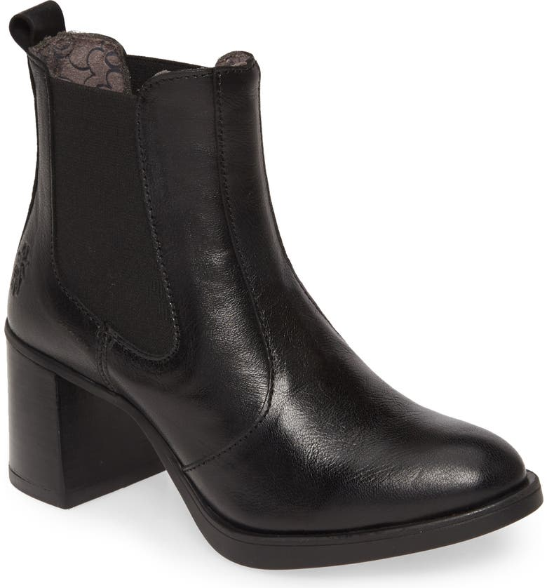 FLY LONDON Seho Bootie, Main, color, BLACK LEATHER