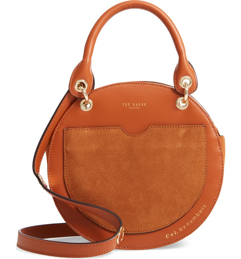 TED BAKER LONDON Colour by Numbers Sunnie Leather Circle Bag, Main, color, 217