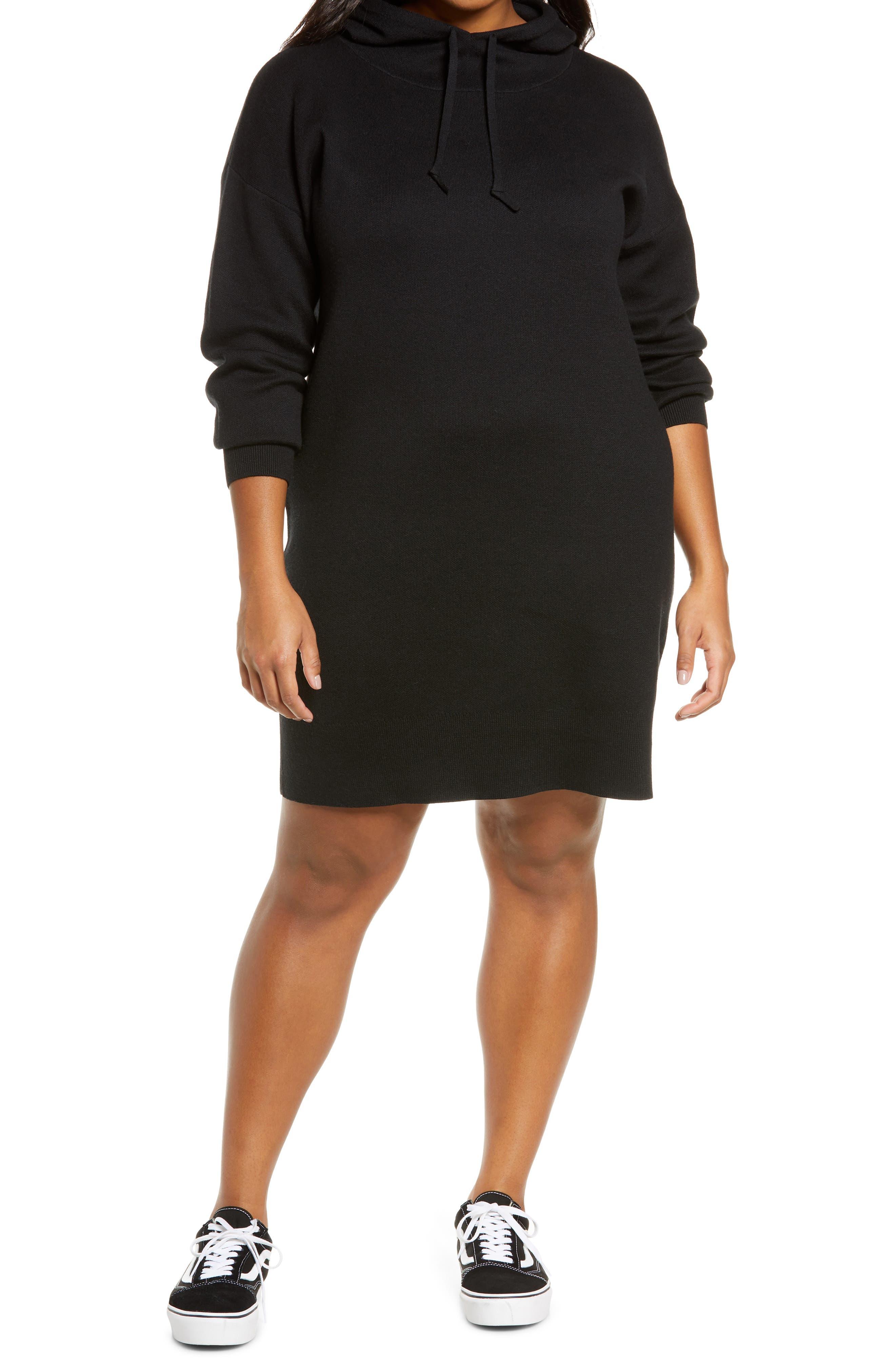 BP. Hoodie Sweater Dress (Plus Size)   Nordstrom