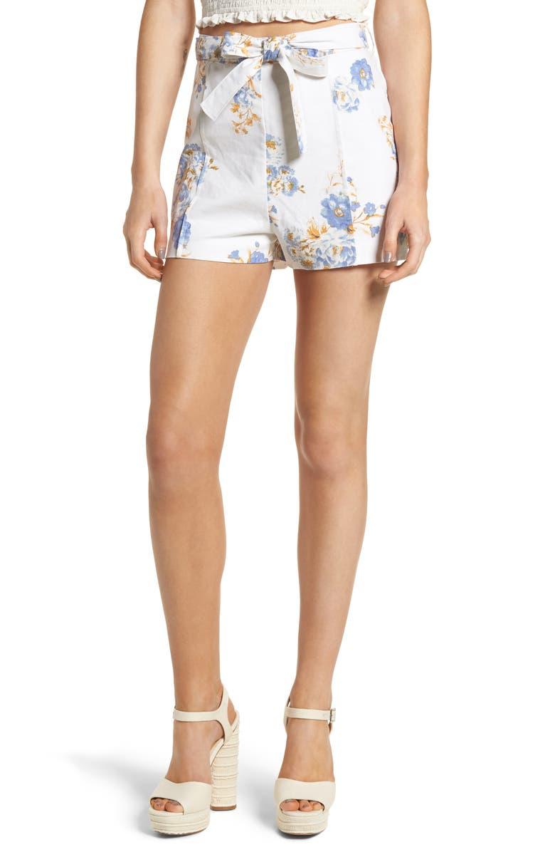 WAYF Matera High Waist Shorts, Main, color, 900