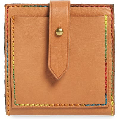 Madewell The Post Bifold Leather Wallet - Beige