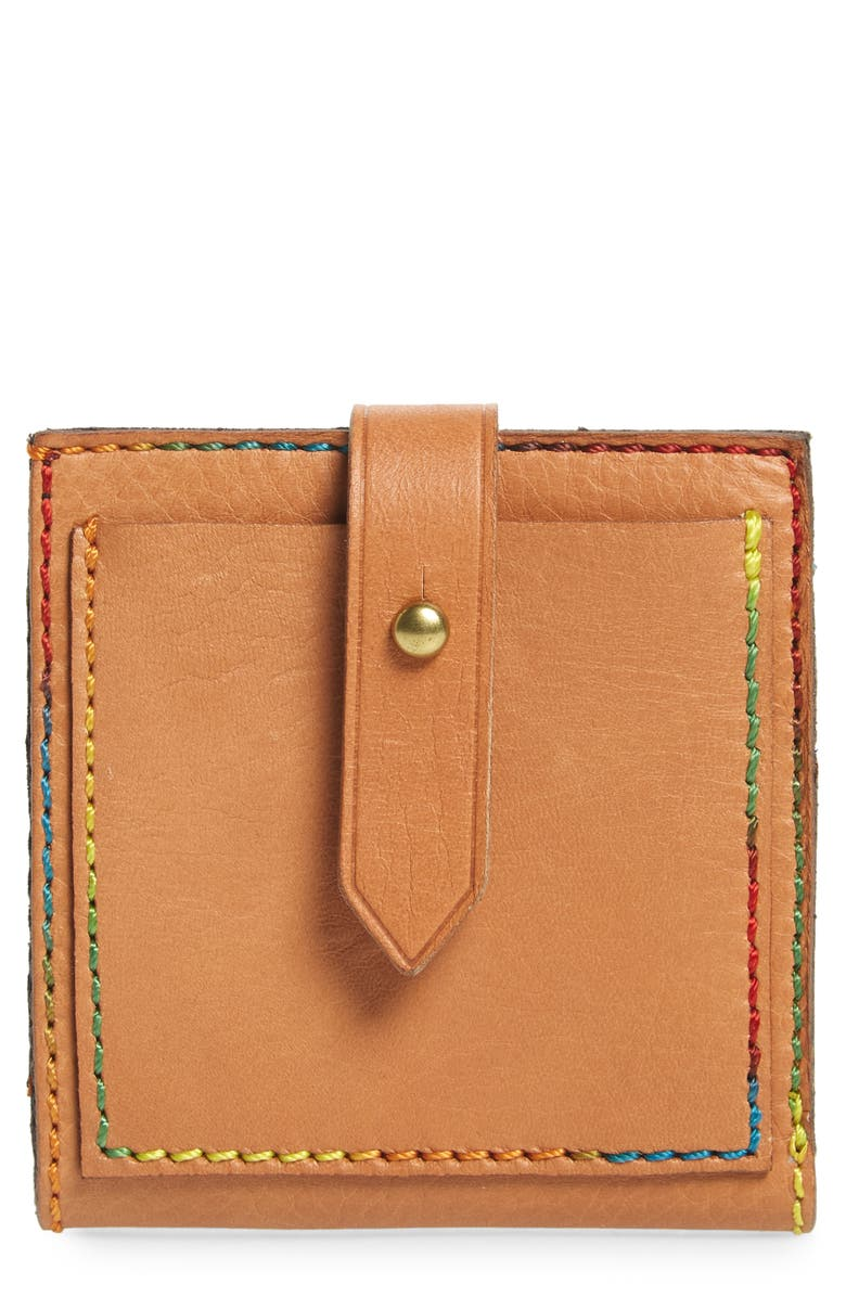 MADEWELL The Post Bifold Leather Wallet, Main, color, DESERT CAMEL