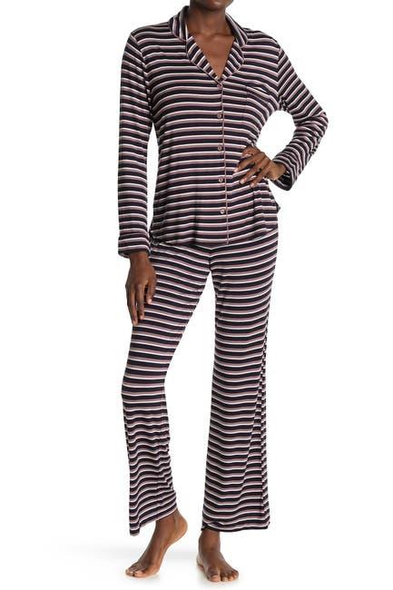 Image of shimera Tranquility Long Sleeve Shirt & Pants 2-Piece Pajama Set
