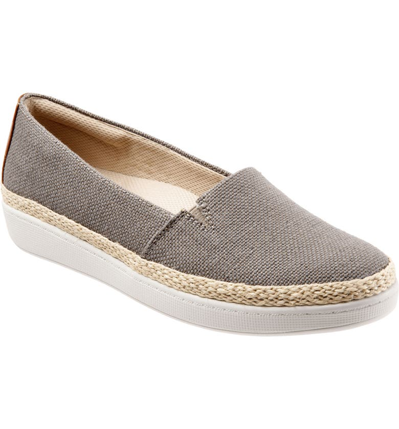TROTTERS Accent Slip-On, Main, color, STONE FABRIC