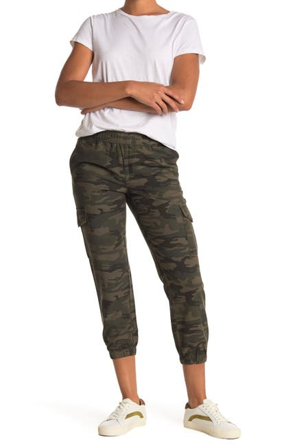 Image of Sanctuary Tencel Camo Print Cargo Joggers