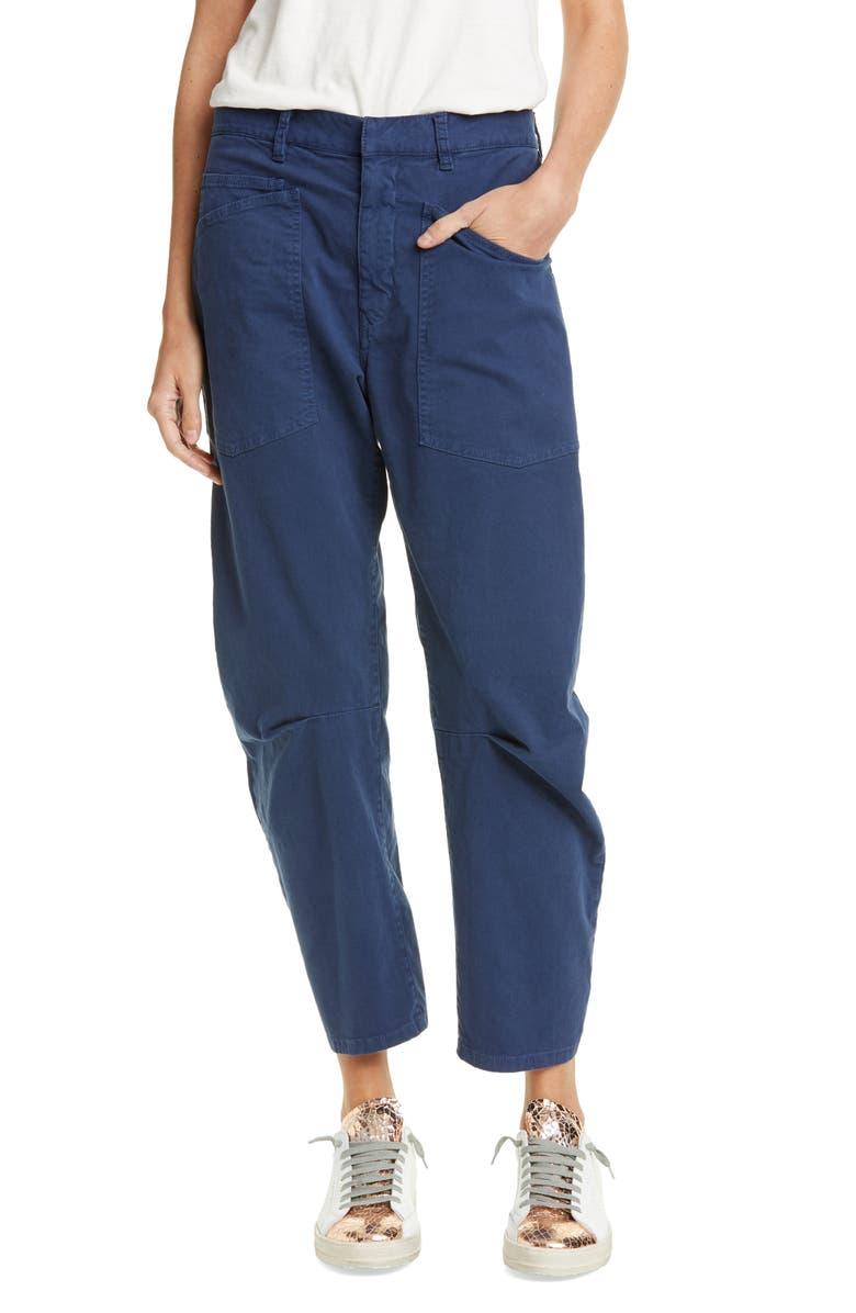 NILI LOTAN Shon Stretch Cotton Pants, Main, color, 428