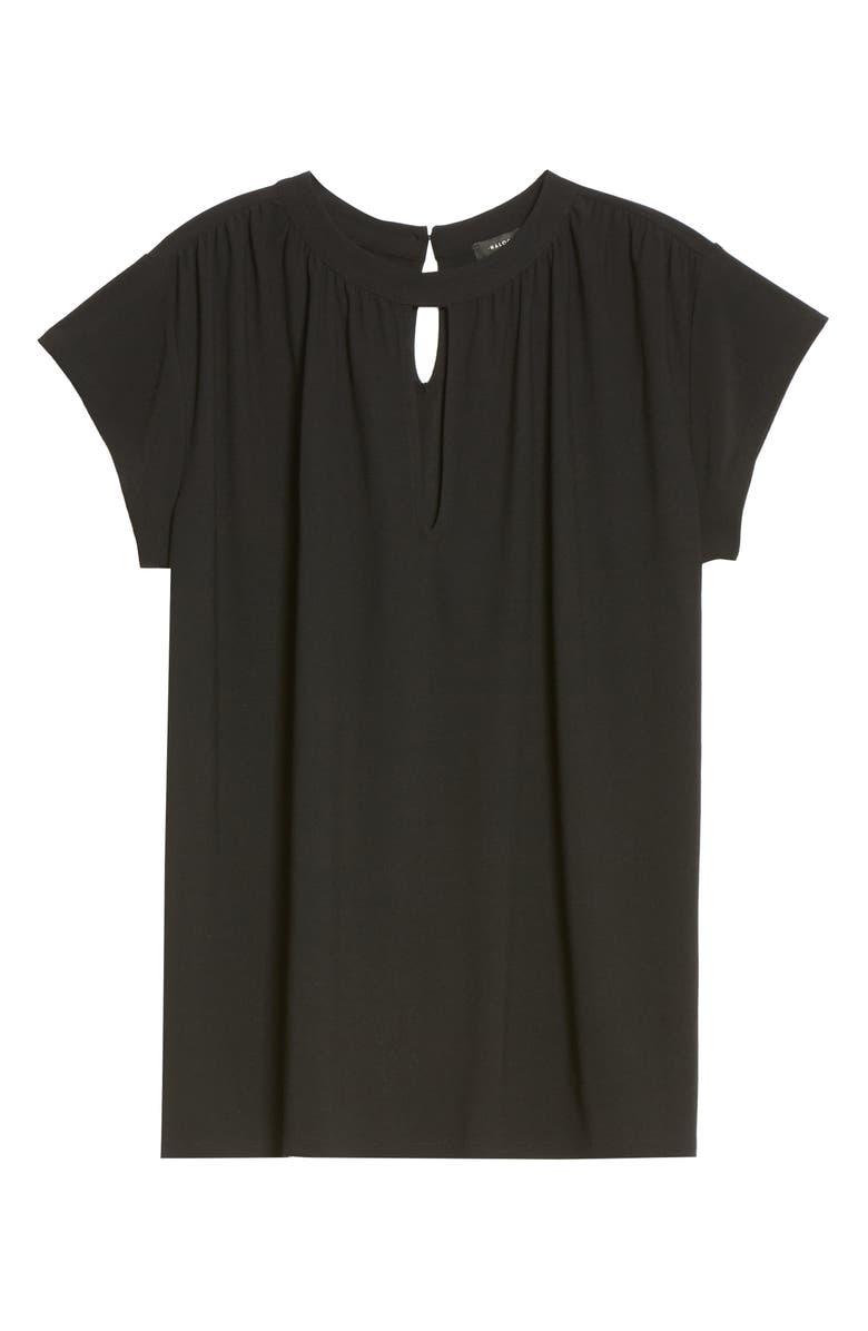 HALOGEN<SUP>®</SUP> Keyhole Cap Sleeve Knit Top, Main, color, 001