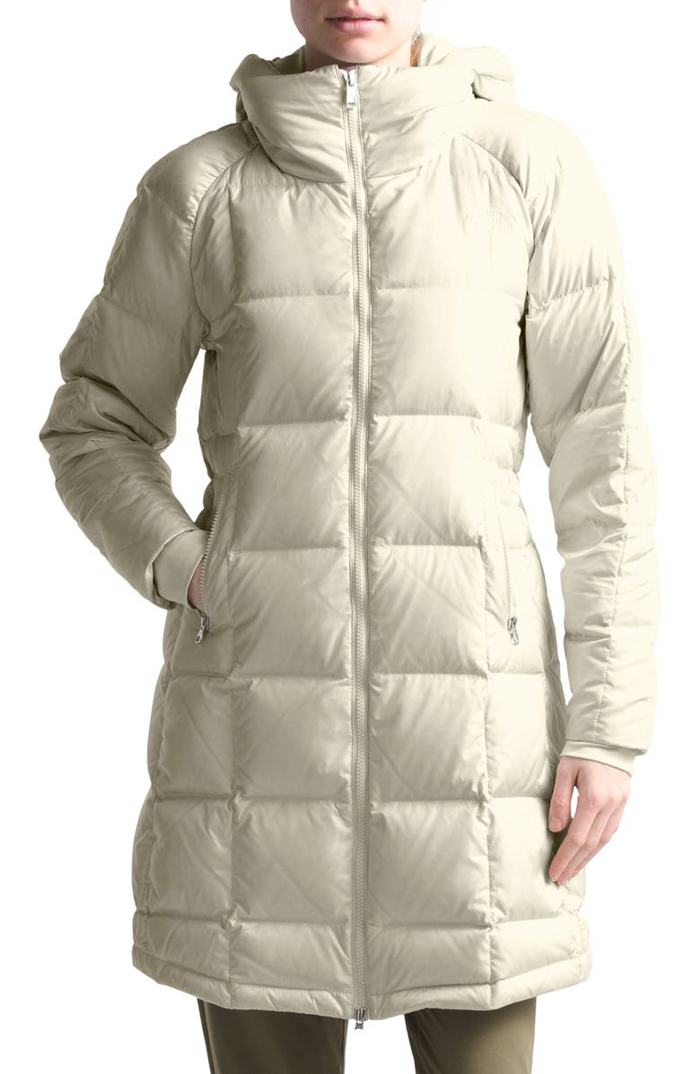 THE NORTH FACE Acropolis Water Repellent 550 Fill Power Down Parka, Main, color, VINTAGE WHITE
