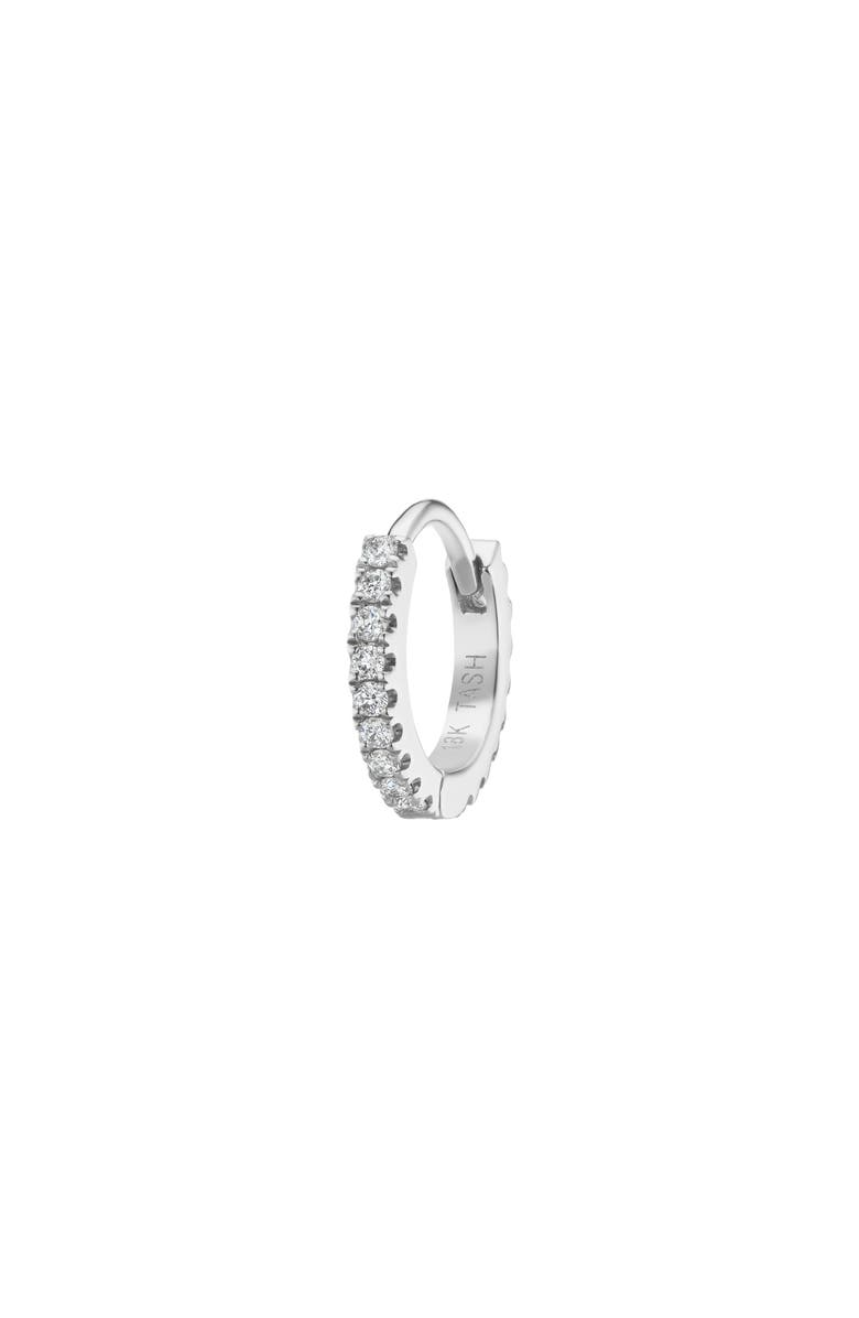 MARIA TASH Diamond Eternity Hoop Earring, Main, color, WHITE GOLD/ DIAMOND