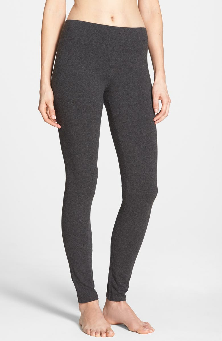 HUE Ultra Wide Waistband Leggings, Main, color, GRAPHITE HEATHER