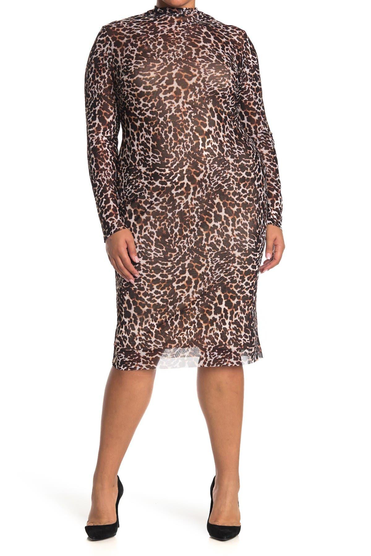 Image of AFRM Helga Leopard Dress